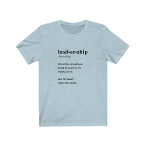 Blue leadership shirt