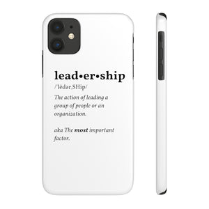 'Leadership' Defined Slim Phone Case | The Rx Shop