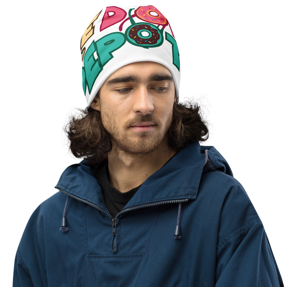 The Donut Depot All-Over Print Beanie