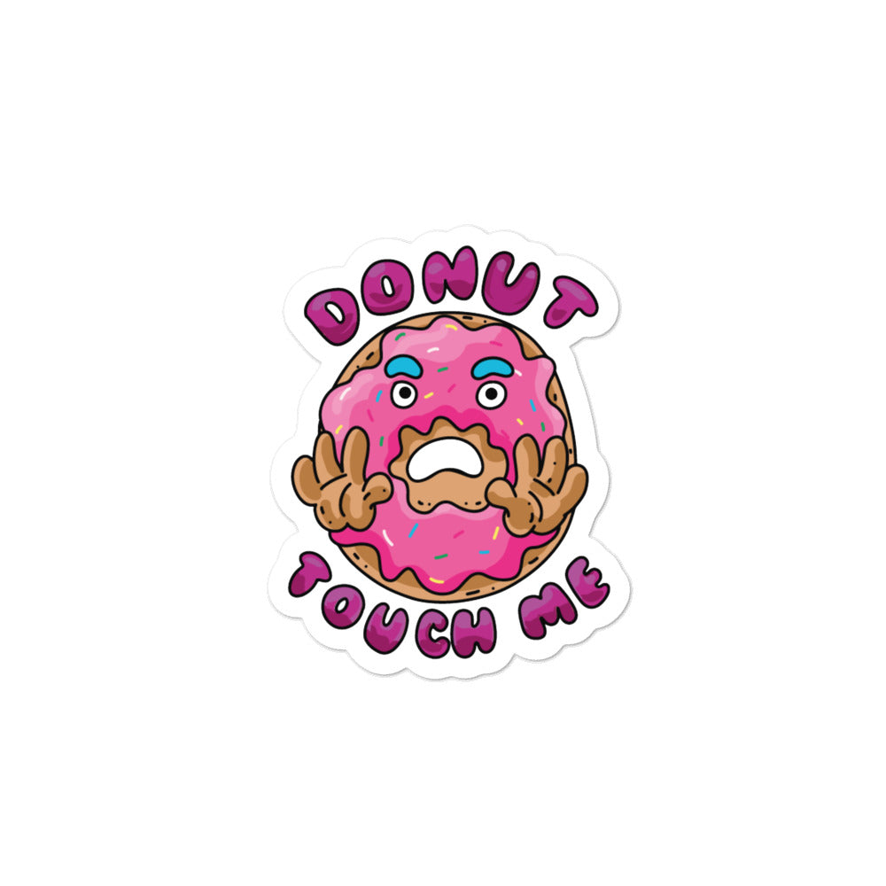 Donut Touch Me Bubble-free stickers