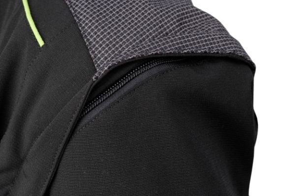 Shoulder pad on Dymaflex Cut Resistant Jacket in black