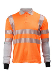 Dymaflex Polo Shirt Hi-Vis Orange front view