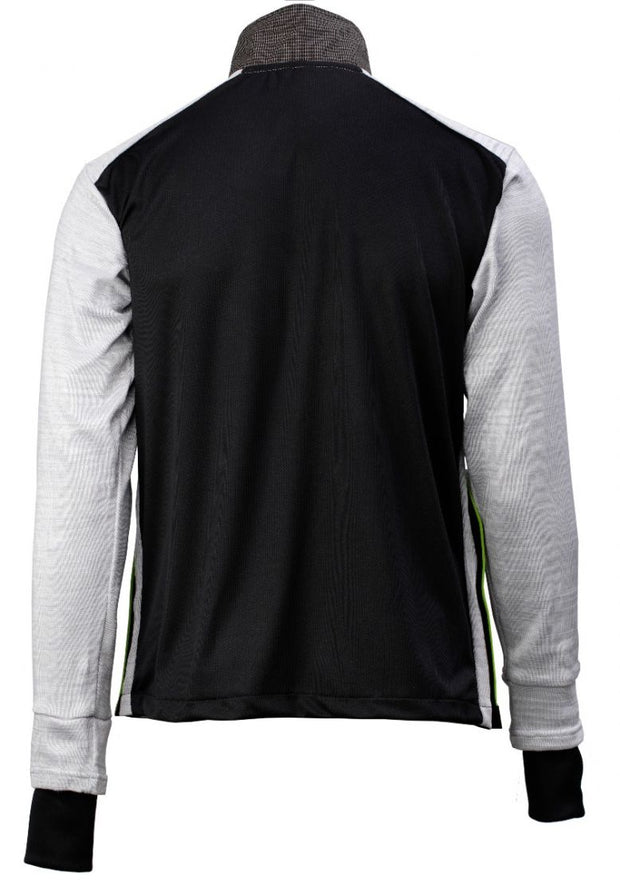 Rear view of the cut resistant Dymaflex Sweatshirt