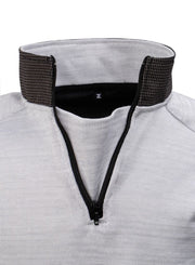 Collar view of the cut resistant Dymaflex Sweatshirt