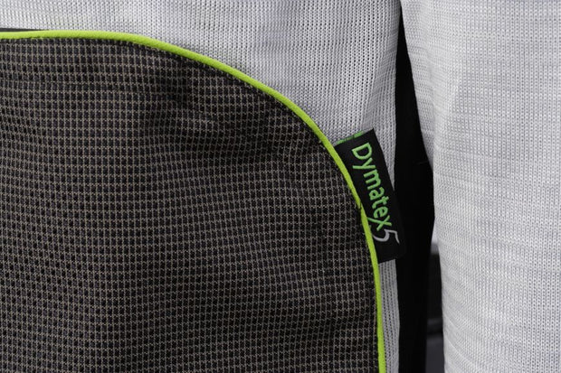 Abdomen patch view of the cut resistant Dymaflex Sweatshirt