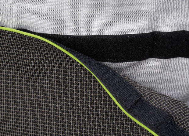 Removable abdomen patch view of the cut resistant Dymaflex Sweatshirt