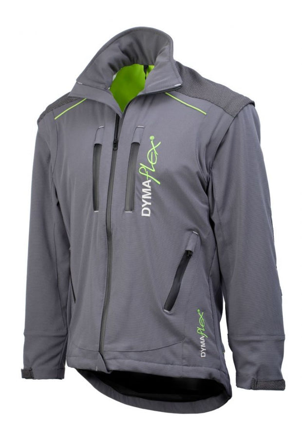 Side view of C606 Dymaflex Jacket Sports Grey