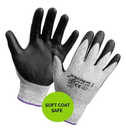 H575 Xscape Glove NBR Coated Soft-Coat Safe Level 5 Cut resistant