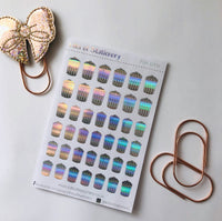 FOIL bin planner stickers - choose colour