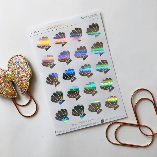 FOIL shell planner stickers - choose colour
