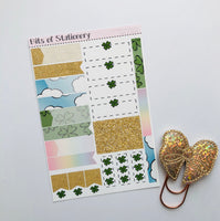 St Patrick's Day ADD ON SHEET hand drawn planner stickers