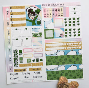 St Patrick's Day hobonichi weeks kit hand drawn planner stickers