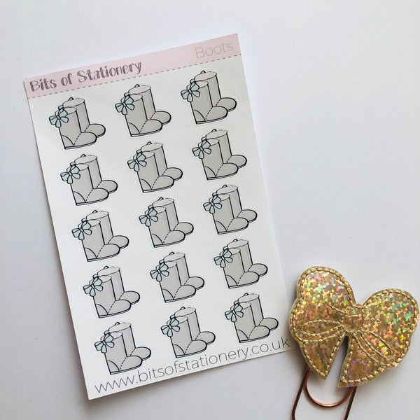 Boots hand drawn planner stickers