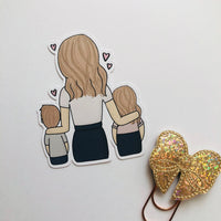 Mother's day hand drawn die cut