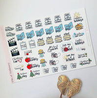 School year events planner stickers