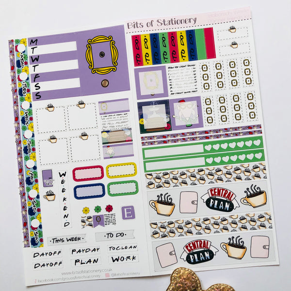 Planner friends hobonichi weeks kit hand drawn planner stickers