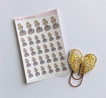 Load image into Gallery viewer, Laundry girl planner stickers hand drawn