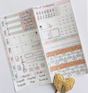 Nautique Dreams hobonichi weeks kit hand drawn planner stickers