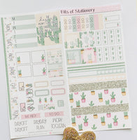 Prickly in Pink hobonichi weeks kit hand drawn planner stickers
