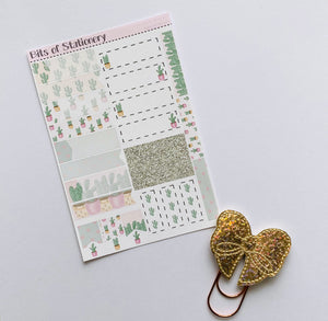 Prickly in Pink kit ADD ON SHEET hand drawn planner stickers