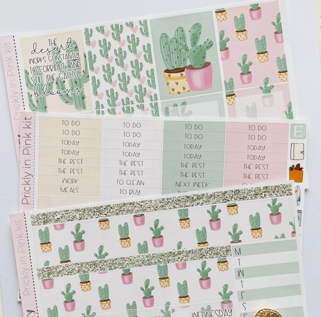 Prickly in Pink mini kit *Add on sheet available*