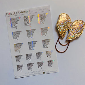 FOIL Spiderweb planner stickers - choose colour