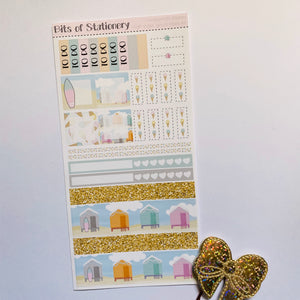 High Tides, Good Vibes hobonichi weeks kit hand drawn planner stickers