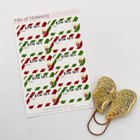 Christmas Movie Night planner stickers