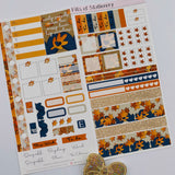 Autumn feels hobonichi weeks kit hand drawn planner stickers