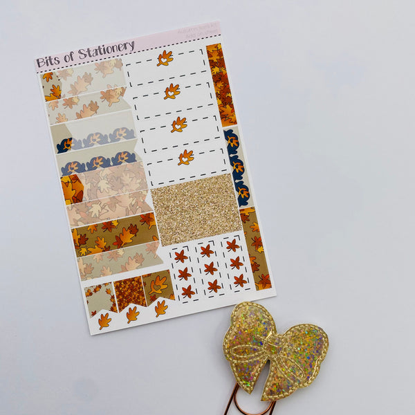 Autumn feels ADD ON SHEET hand drawn planner stickers