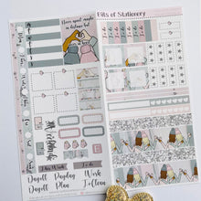 Load image into Gallery viewer, Winter friends hobonichi weeks kit hand drawn planner stickers