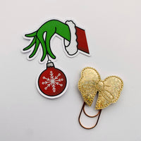 Christmas means more bauble hand drawn die cut
