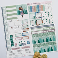 Winter Wonderland hobonichi weeks kit hand drawn planner stickers
