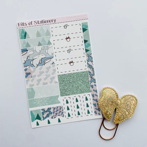 Winter Wonderland ADD ON SHEET hand drawn planner stickers