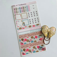 Load image into Gallery viewer, Birthday girl hobonichi weeks kit hand drawn planner stickers
