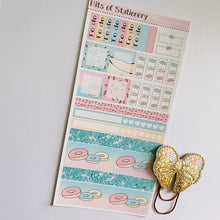 Load image into Gallery viewer, Unicorns and donuts hobonichi weeks kit hand drawn planner stickers
