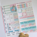 Unicorns and donuts hobonichi weeks kit hand drawn planner stickers