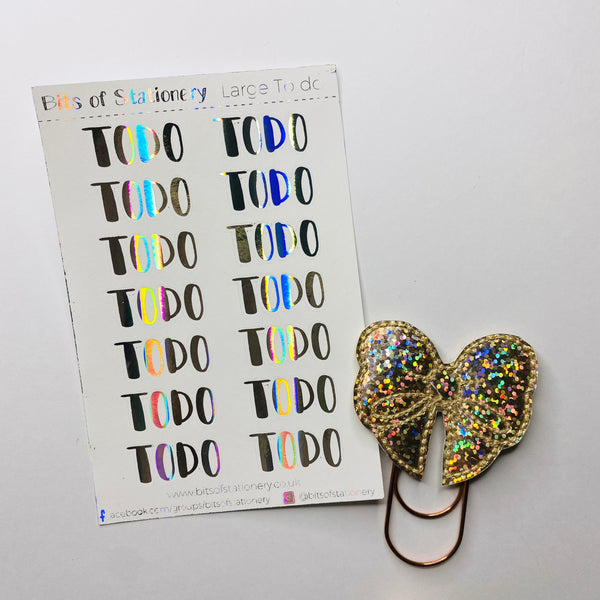 FOIL TO DO planner stickers - choose colour