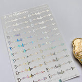 FOIL To do arrows planner stickers - choose colour