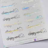 FOIL Happy Mail arrows planner stickers - choose colour