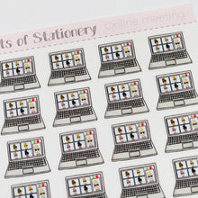 Load image into Gallery viewer, Online meeting planner stickers hand drawn