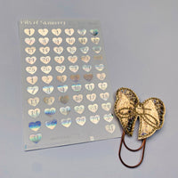 FOIL heart date planner stickers - choose colour