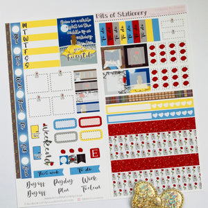 Tale as old as time hobonichi weeks kit hand drawn planner stickers