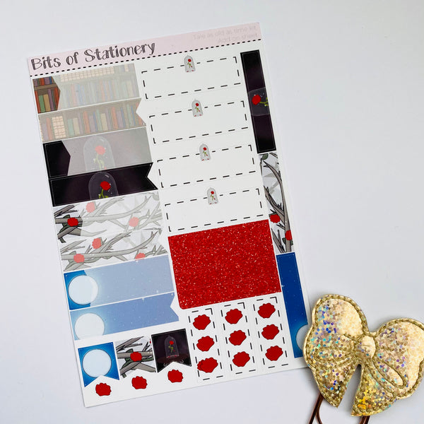 Tale as old as time ADD ON SHEET hand drawn planner stickers