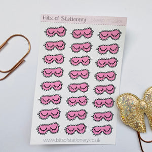Sleep masks hand drawn planner stickers