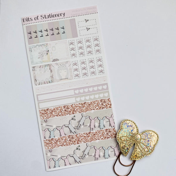 Spring is coming hobonichi weeks kit hand drawn planner stickers