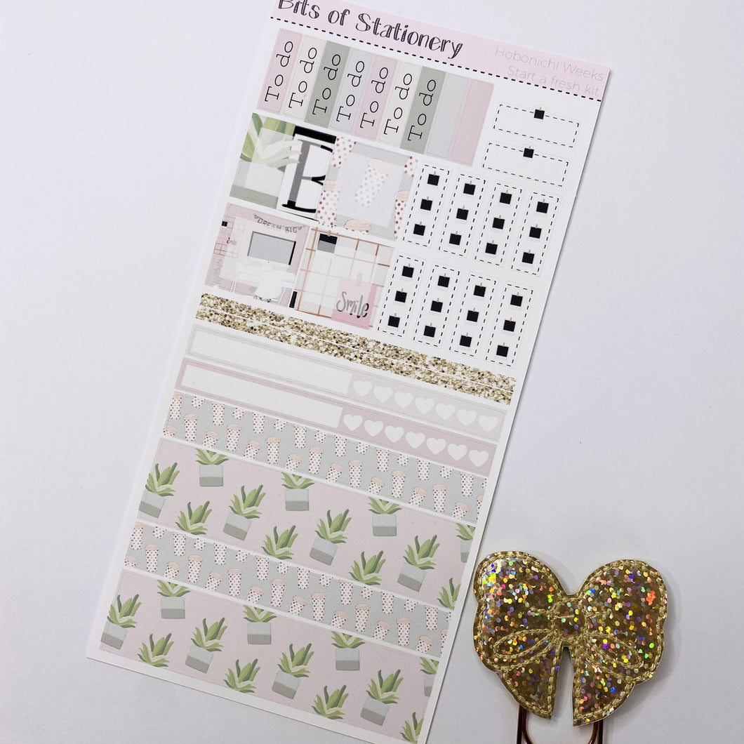 Start a fresh hobonichi weeks kit hand drawn planner stickers