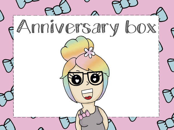 Anniversary box || birthday celebration planner girl rainbow