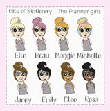 Blanket girl planner stickers hand drawn