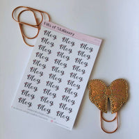 Blog word stickers - Bow collection